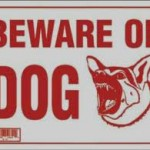 locksmiths nottingham beweare of dog sign